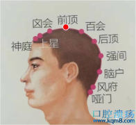 前顶穴的准确位置图功效与作用:熄风醒脑、宁神镇静,治疗癫痫,小儿惊风,头痛,头晕